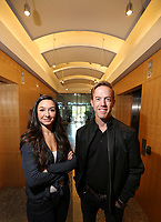 Oct. 1, 2018. San Diego CA. USA. |  Jennifer Costo  CEO of Envy, a software startup, and Jason Kent is an attorney with the SD office of Cooley LLP. at the Law offices of Cooley in San Diego.| Photos jamie Scott Lytle. copyright.