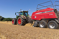 17-7-2021 Baling barley straw in Lincolnshire <br /> ©Tim Scrivener Photographer 07850 303986<br />      ....Covering Agriculture In The UK....