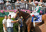 July 14, 2012 Starformer, trained by William Mott and ridden by Edgar Prado, wins the Robert G. Dick Memorial Stakes at Delaware Park in Stanton, Delaware.   ©Joan Fairman Kanes/Eclipsesportswire