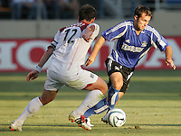 23 July 2005: Brian Mullan of the Earthquakes in action against the MetroStars at Spartan Stadium in San Jose, California.  Earthquakes defeated MetroStars, 2-1.  Credit: Michael Pimentel / ISI