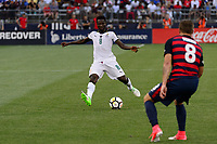 East Hartford, CT - Saturday July 01, 2017: Ebenezer Ofori during an international friendly match between the men's national teams of the United States (USA) and Ghana (GHA) at Pratt & Whitney Stadium at Rentschler Field.