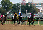 September 06, 2014:   Bradester(#4, inside near rail) wins the 22nd running of the G3 Ack Ack Handicap at Churchill Downs (Louisville, KY), ridden by Corey Lanerie.  He is a bay colt, 4 years old, trained by Eddie Kenneally and owned by Joseph B. Sulton.  Lion Heart x Grandestofall (Grand Slam) ©Mary M. Meek/ESW/CSM