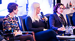 Josh Vander Vies, Vicki Walker, Chelsey Gotell, Kathleen Martin-Ginis, Ahmed El-Awadi and Patrick Jarvis (left to right) during the Sport, The Way Ahead panel discussion  at the CPC Paralympic Summit 2018 at the Palliser Hotel in Calgary, Alberta on November 15, 2018.