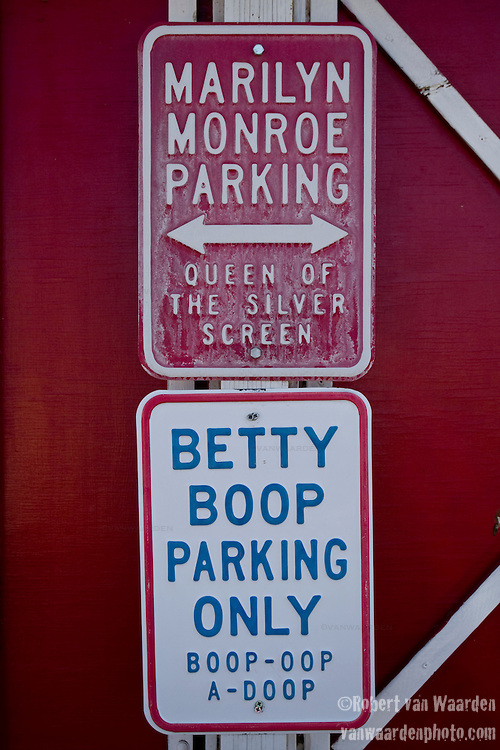 Route 66 memoribilia and icons in Seligman, Arizona
