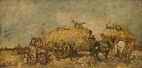Full title: The Hayfield<br /> Artist: Adolphe Monticelli<br /> Date made: probably 1860-80<br /> Source: http://www.nationalgalleryimages.co.uk/<br /> Contact: picture.library@nationalgallery.co.uk<br /> <br /> Copyright © The National Gallery, London