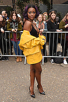 Justine Skye<br /> arrives for the Topshop Unique AW17 show as part of London Fashion Week AW17 at Tate Modern, London.<br /> <br /> <br /> ©Ash Knotek  D3232  19/02/2017