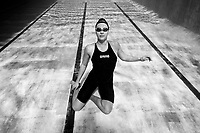 Swimmer Brearna Crawford portraits at Kings College pool in Auckland, New Zealand on Thursday, 8 July 2021. Photo: Simon Watts/www.bwmedia.co.nz