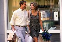 Upscale couple shopping.