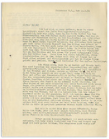 BNPS.co.uk (01202) 558833. <br /> Pic: NateDSanders/BNPS<br /> <br /> Pictured: The first page of the letter. <br /> <br /> A fascinating letter has emerged which reveals Albert Einstein predicted the evils of Adolf Hitler almost a decade before he came to power.<br /> <br /> The genius mathematician raised concerns to his wife Elsa about the Nazi leader after his release from prison in 1924 following a failed coup.<br /> <br /> He feared for the Jewish population of his homeland after Hitler laid out his anti-semitic political manifesto in Mein Kampf.<br /> <br /> Elsa, writing to her cousin Erich in 1934, describes Einstein as a 'seer' and 'prophet' for having foreseen the perilous path Germany was headed down.