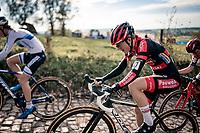 Denise Betsema (NED/Pauwels Sauzen-Bingoal) up the infamous Koppenberg<br /> <br /> Koppenbergcross 2020 (BEL)<br /> women's race<br /> <br /> ©kramon