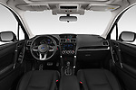 Stock photo of straight dashboard view of a 2019 Subaru Forester Luxury 5 Door SUV