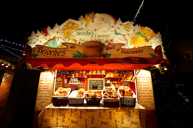 Christmas market stall lit at night - Lille France