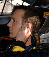 Nov 12, 2005; Phoenix, Ariz, USA;  Nascar Nextel Cup driver Kurt Busch sits in the #97 Irwin Ford of Jack Roush Racing prior to qualifying for the Checker Auto Parts 500 at Phoenix International Raceway. Hours before the race Kenny Wallace was announced as the driver of the car after 2004 Nextel Cup Champion Kurt Busch was pulled from the car for the rest of the season after being arrested for wreckless driving Friday night in nearby Avondale, Ariz. Mandatory Credit: Photo By Mark J. Rebilas