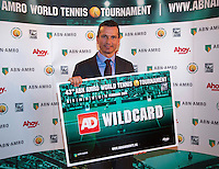 Rotterdam, Netherlands, Januari 06, 2016,  Press conference ABNAMROWTT Wildcard with Richard Krajicek<br /> Photo: Tennisimages/Henk Koster