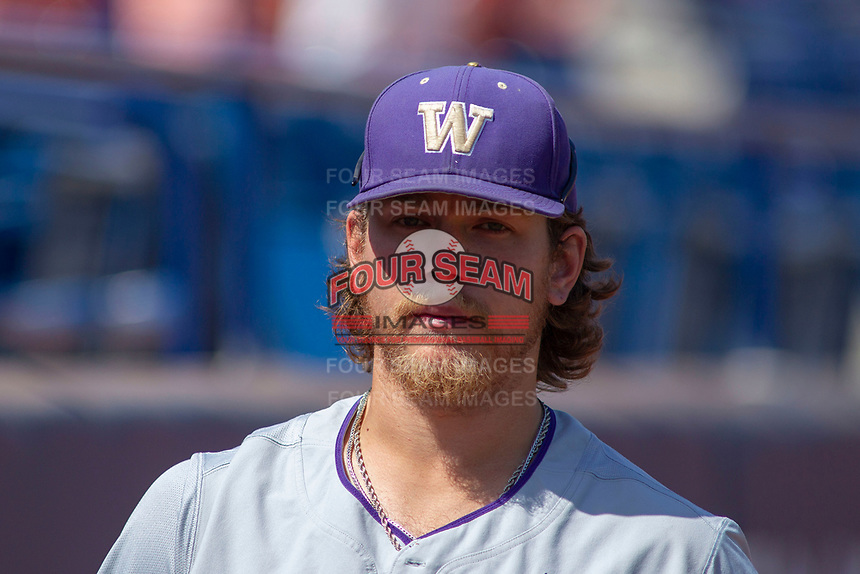 University of Washington Huskies Joe Wainhouse (44) before the game against the Cal State Fullerton Titans at Goodwin Field on June 08, 2018 in Fullerton, California. The University of Washington Huskies defeated the Cal State Fullerton Titans 8-5. (Donn Parris/Four Seam Images)