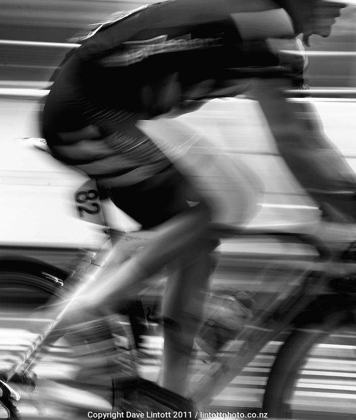 New Zealand's Jason Christie. Trust House Wellington Cycle Classic Stage 5 - Criterium at Lambton Quay, Wellington, New Zealand on Sunday, 30 January 2011. Photo: Dave Lintott / lintottphoto.co.nz