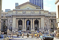 New York City: New York Public Library, 5th Ave., 40-42nd St. 1898-1911. Carrere and Hastings. Note: before cleaning.  Photo '78.