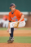 Relief pitcher Tyler Wilson #18 of the Virginia Cavaliers in action against the St. John's Red Storm at the Charlottesville Regional of the 2010 College World Series at Davenport Field on June 6, 2010, in Charlottesville, Virginia.  The Red Storm defeated the Cavaliers 6-5.   Photo by Brian Westerholt / Four Seam Images