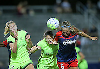 Boyds, MD - Wednesday Sept. 07, 2016: Beverly Yanez, Kendall Fletcher, Shelina Zardorsky during a regular season National Women's Soccer League (NWSL) match between the Washington Spirit and the Seattle Reign FC at Maureen Hendricks Field, Maryland SoccerPlex.