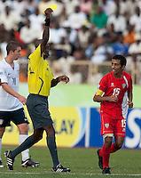Yellow Card. US Under-17 Men's National Team defeated United Arab Emirates 1-0 at Gateway International  Stadium in Ijebu-Ode, Nigeria on November 1, 2009.