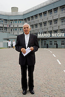 milano, quartiere bovisa. istituto di ricerche farmacologiche mario negri. nella foto: silvio garattini, direttore dell'istituto --- milan, bovisa district. The Mario Negri Institute for Pharmacological Research. silvio garattini, director