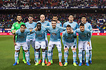 Players of RC Celta de Vigo line up and pose for a photo during their La Liga match between Atletico de Madrid and RC Celta de Vigo at the Vicente Calderón Stadium on 12 February 2017 in Madrid, Spain. Photo by Diego Gonzalez Souto / Power Sport Images