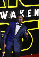 John Boyega attends the STAR WARS: 'The Force Awakens' EUROPEAN PREMIERE at Odeon, Empire & Vue Cinemas, Leicester Square, England on 16 December 2015. Photo by David Horn / PRiME Media Images