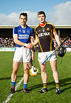 Captains Conor Mc Grath of Cratloe and Tony Kelly of Ballyea before the county senior hurling final at Cusack Park. Photograph by John Kelly.