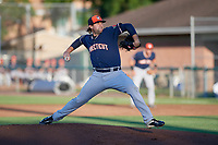 Connecticut Tigers starting pitcher Ryan Castellanos (27) delivers a pitch during a game against the Auburn Doubledays on August 8, 2017 at Falcon Park in Auburn, New York.  Auburn defeated Connecticut 7-4.  (Mike Janes/Four Seam Images)