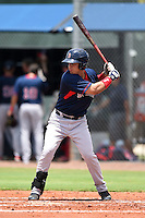 GCL Red Sox first baseman Darwin Pena (5) at bat during a game against the GCL Rays on June 24, 2014 at Charlotte Sports Park in Port Charlotte, Florida.  GCL Red Sox defeated the GCL Rays 5-3.  (Mike Janes/Four Seam Images)