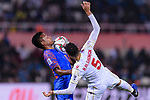 Lalpekhlua Jeje of India (L) fights for the ball with Hamad Mahmood Alshamsan of Bahrain during the AFC Asian Cup UAE 2019 Group A match between India (IND) and Bahrain (BHR) at Sharjah Stadium on 14 January 2019 in Sharjah, United Arab Emirates. Photo by Marcio Rodrigo Machado / Power Sport Images
