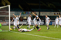 29th December 2020; Dens Park, Dundee, Scotland; Scottish Championship Football, Dundee FC versus Alloa Athletic; Osman Sow of Dundee celebrates after scoring for 1-1 in the 58th minute