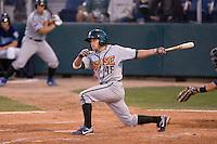 August 6, 2010: Boise Hawks' Pierre LePage (#45) at-bat during a Northwest League game against the Everett AquaSox at Everett Memorial Stadium in Everett, Washington.