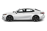 Car Driver side profile view of a 2018 Toyota Camry XSE 4 Door Sedan Side View