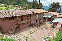 Peru, Misminay Village, Urubamba Valley.  House of Quechua Family, Expansion Under Way.
