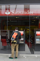 The Santander Bank in Cardiff.   14-Oct-2013