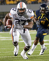 October 23, 2008: Auburn running back Mario Fannin. The West Virginia Mountaineers defeated the Auburn Tigers 34-17 on October 23, 2008 at Mountaineer Field, Morgantown, West Virginia.
