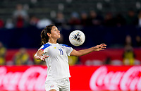 CARSON, CA - FEBRUARY 07: Raquel Rodriguez #11 of Costa Rica traps the ball during a game between Canada and Costa Rica at Dignity Health Sports Complex on February 07, 2020 in Carson, California.