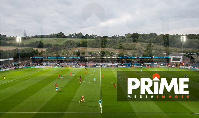 General view of play during the Carabao Cup 2nd round match between Wycombe Wanderers and Forest Green Rovers at Adams Park, High Wycombe, England on 28 August 2018. Photo by Andy Rowland.