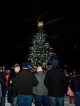 TORRINGTON, CT- 28 November 2014-112814EC05--   The Coe Memorial Park tree lighting brought hundreds to downtown Torrington Friday night. Erin Covey Republican-American