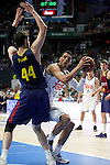 Real Madrid´s Mejri and Barcelona´s Tomic during Liga Endesa Final first match at Palacio de los Deportes in Madrid, Spain. June 19, 2015. (ALTERPHOTOS/Victor Blanco)