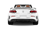 Straight rear view of 2017 Mercedes Benz C Class AMG 63 S 2 Door Convertible stock images