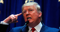 NEW YORK, NY - JUNE 16: Donald Trump makes presidential announcement at Trump Tower on June 16, 2015 in New York City.<br /> <br /> <br /> People:  Donald Trump