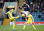 Dundee v St Johnstone….31.12.16     Dens Park    SPFL<br />Marcus Haber and Paul Paton<br />Picture by Graeme Hart.<br />Copyright Perthshire Picture Agency<br />Tel: 01738 623350  Mobile: 07990 594431