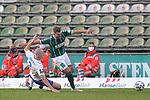 08.11.2020, Dietmar-Scholze-Stadion an der Lohmuehle, Luebeck, GER, 3. Liga, VfB Luebeck vs KFC Uerdingen 05 <br /> <br /> im Bild / picture shows <br /> Yannick Deichmann (VfB Luebeck) wird von Edvinas Girdvainis (KFC Uerdingen 05)  gestoppt<br /> <br /> DFB REGULATIONS PROHIBIT ANY USE OF PHOTOGRAPHS AS IMAGE SEQUENCES AND/OR QUASI-VIDEO.<br /> <br /> Foto © nordphoto / Tauchnitz