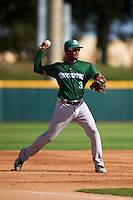 Daytona Tortugas third baseman Ty Washington (3) throws to first during a game against the Brevard County Manatees on August 14, 2016 at Space Coast Stadium in Viera, Florida.  Daytona defeated Brevard County 9-3.  (Mike Janes/Four Seam Images)