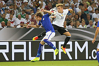 Max Meyer (Deutschland, Germany) gegen Alexander Ring (Finnland) - Deutschland vs. Finnland, Borussia Park, Mönchengladbach