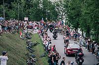 breakaway group cheered on<br /> <br /> stage 13 Ferrara - Nervesa della Battaglia (180km)<br /> 101th Giro d'Italia 2018