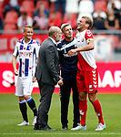 Nederland, Utrecht, 16 augustus 2015<br /> Eredivisie<br /> Seizoen 2015-2016<br /> FC Utrecht-SC Heerenveen<br /> Willem Janssen van FC Utrecht heeft last van een blessure.