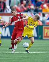 02 May 2009: Columbus Crew midfielder Brian Carroll #16 and Toronto FC midfielder Carl Robinson #33 in action at BMO Field in a game between the Columbus Crew and Toronto FC. .The game ended in a 1-1 draw...